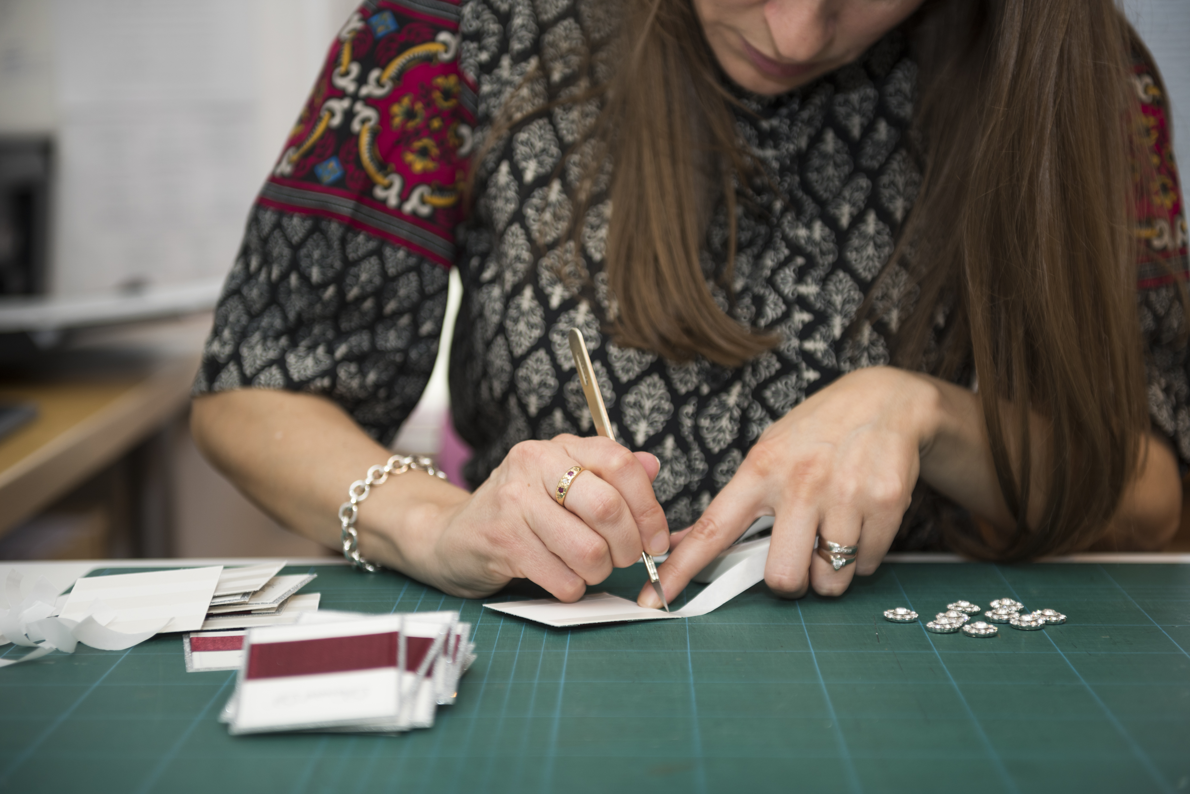 Hand Making Place Cards