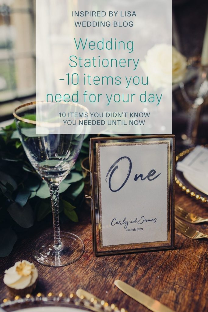 information graphic wedding stationery blog post image of table name in frame