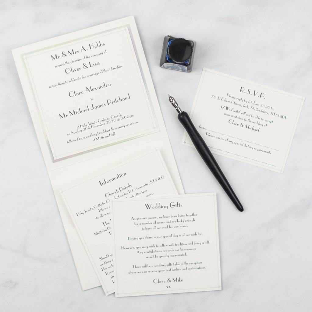 types of wedding invitations luxury foil edge invitation inserts