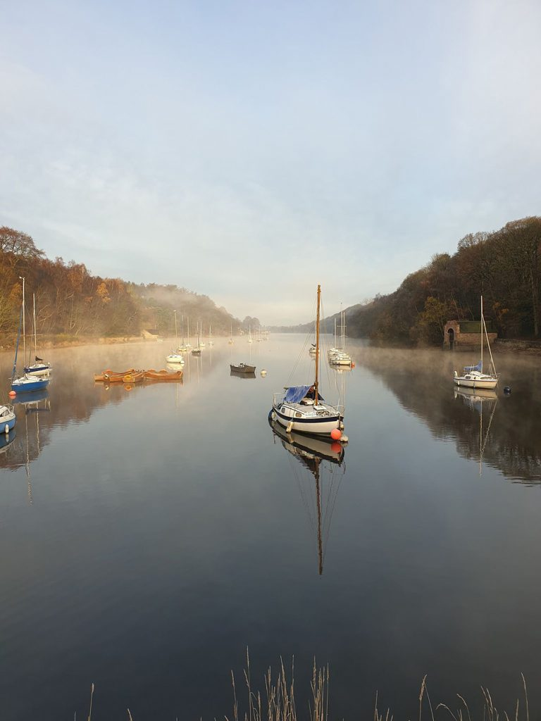 photo rudyard lake misty boats