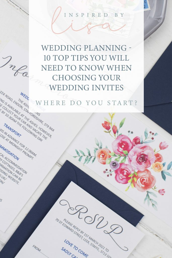 wedding planning graphic floral invite text on top