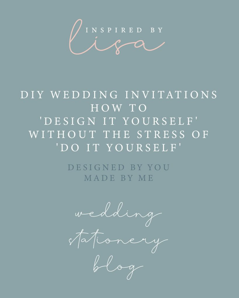 diy wedding invitations graphic wording on blue grey background