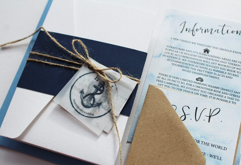 diy wedding invitations white invitation navy bellyband twine vellum tag inserts